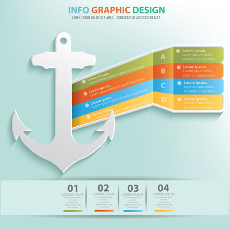 information design: Anchor design info graphic design Illustration