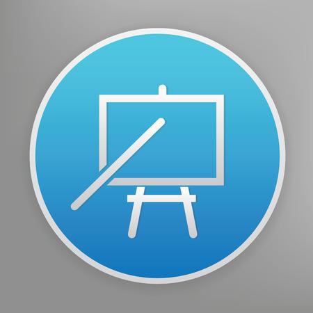tutorial: Tutorial design icon on blue button