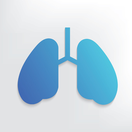 respiratory protection: Lung symbol design,clean vector