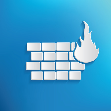 Fire wall symbol design,clean vector Illustration