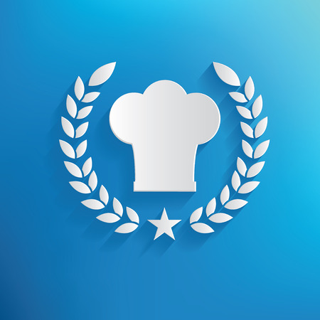 replaceable: Chef design on blue background,clean vector