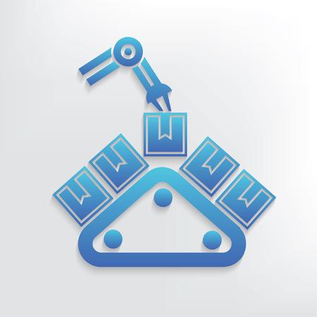 bulk carrier: Shipping symbol design,clean vector