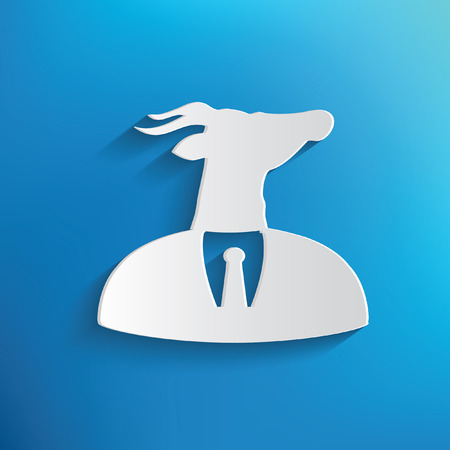 classical mythology character: Goat concept on blue background,clean vector Illustration
