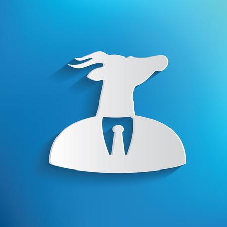 Goat concept on blue background,clean vector Illustration