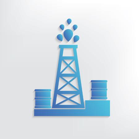 deep drilling: Oil industry symbol design,clean vector Illustration
