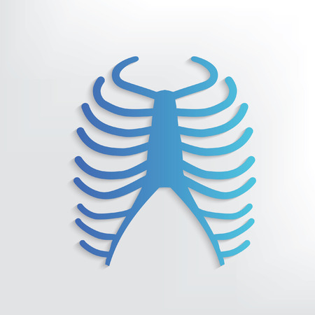 rib: Rib symbol design,clean vector Illustration