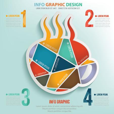 Coffee puzzle info graphic design,clean vector