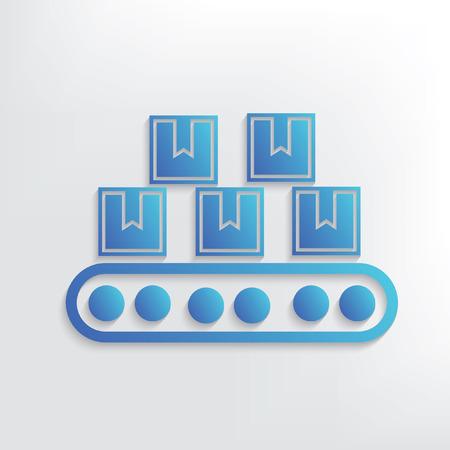 front loading: Logistic symbol design,clean vector