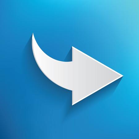 blue arrow: Arrow symbol on blue background,clean vector