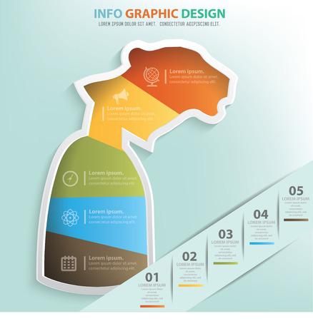 inconstant: Tiger businessman info graphic design,clean vector