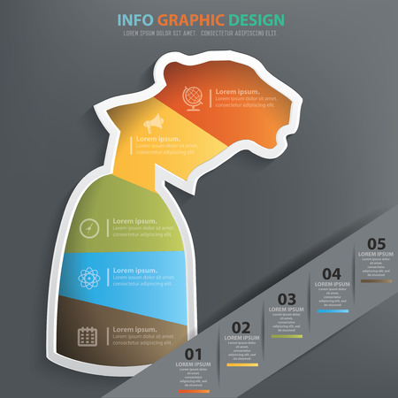 inconstant: Tiger businessman info graphic design,clean vector