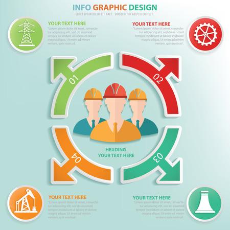 Engineering info graphic design, Data concept design. Clean vector.