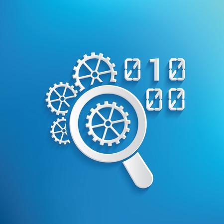 kódování: Kódování design na modrém pozadí, čistý vektor