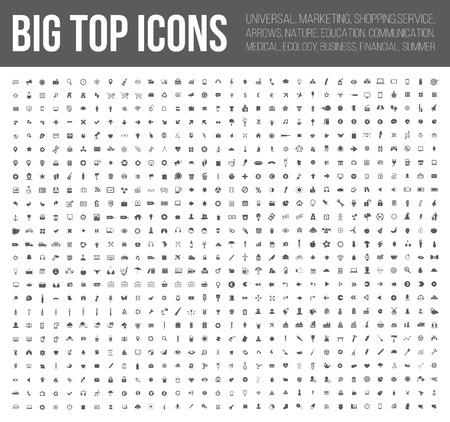 big top: Big top icons,Business,Finance,industry,Medical, and website icon set,clean vector