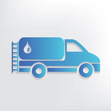 filler: Oil car symbol design,clean vector Illustration