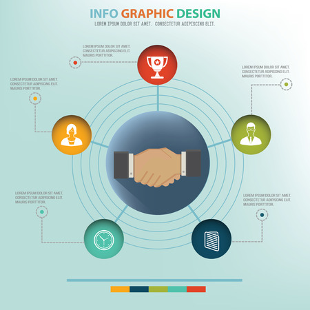 official: Concept of business connection design info graphic design, clean vector
