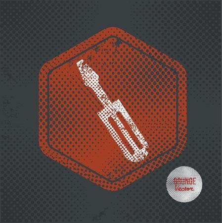 reconditioning: Repair,stamp design on old dark background,grunge concept,vector Illustration