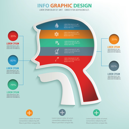 information  isolated: Digestive system design info graphic design,clean vector Illustration