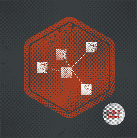 old stamp: Analysis,stamp design on old dark background,grunge concept,vector