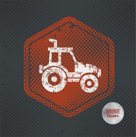 old tractor: