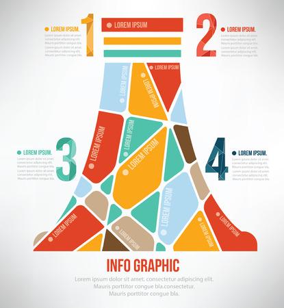 Nuclear puzzle concept info graphic design,clean vector Illustration