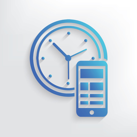 Time management symbol design,clean vector Illustration