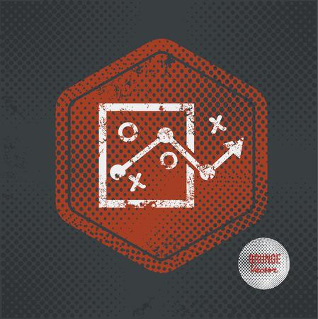 choose a path: Strategy,stamp design on old dark background,grunge concept