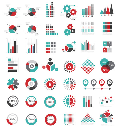data: Data analysis for info graphic design icon set,clean vector