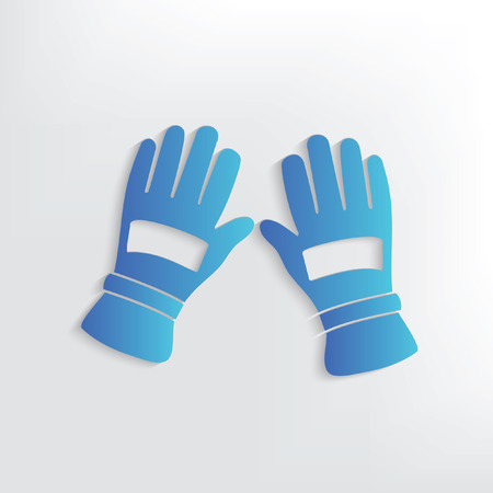 latex glove: Glove symbol design,clean vector