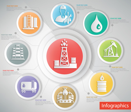 succession: Oil industry design,info graphic concept,clean vector Illustration