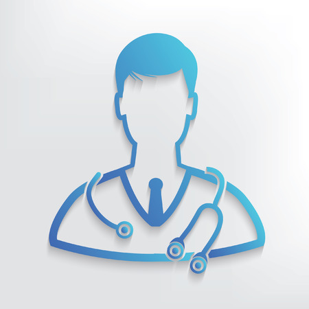 Doctor symbol design,clean vector 일러스트