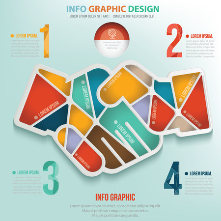 friend chart: Hand shake puzzle info graphic design,clean vector Illustration