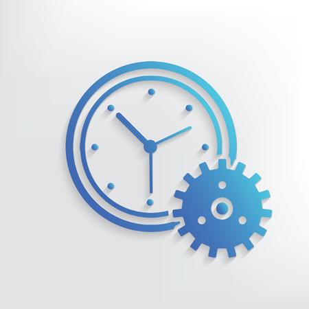 Uhr-Symbol Design, saubere Vektor Standard-Bild - 42520402