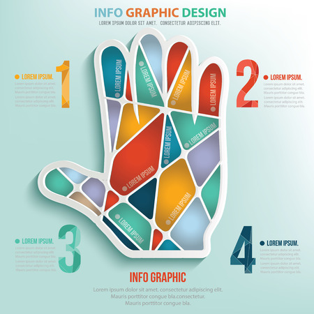 slowdown: Hand puzzle info graphic design,clean vector