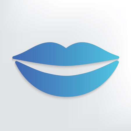 beso labios: Boca diseño del símbolo, limpio vector