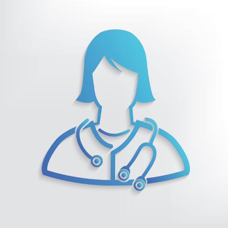 Doctor symbol design,clean vector Stock Illustratie
