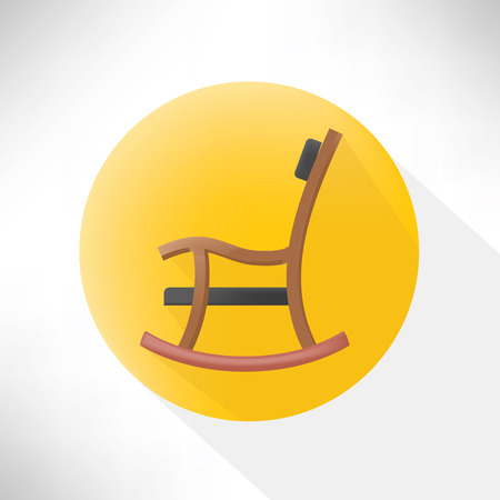 ergonomic: Chair symbol icon,flat design,clean vector Illustration