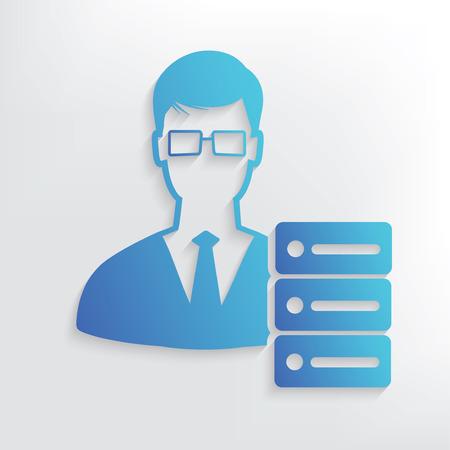 admin: Admin symbol design,clean vector Illustration