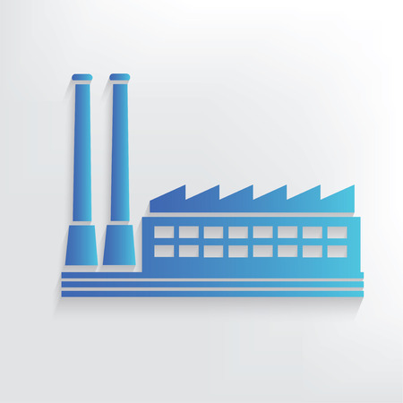 refinery engineer: Factory symbol design,clean vector