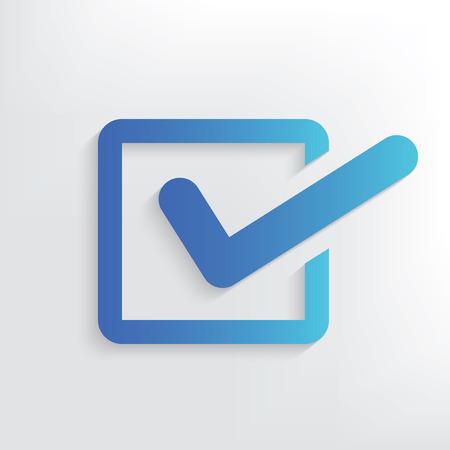 quadrate pictogram: Checking symbol design,clean vector