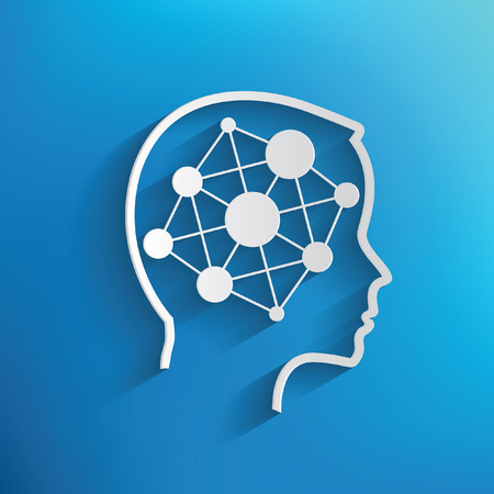 Connection concept on blue background,clean vector