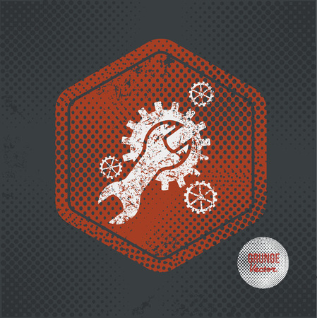 Maintenance,stamp design on old dark background,grunge concept,vector