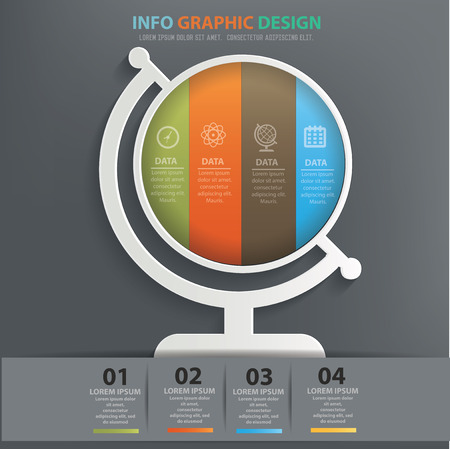 picto: Global info graphic design,clean vector