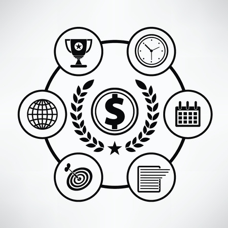 finance concept: Finance concept,Circle info graphic design,clean vector Illustration