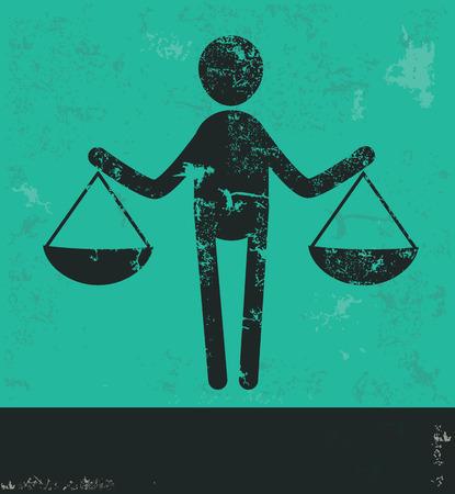 fairness: Human resource design on green background,grunge vector