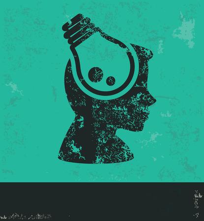 filament: Idea design on green background,grunge vector