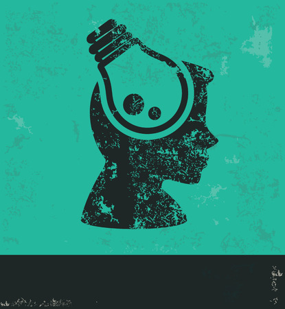 Idea design on green background,grunge vector