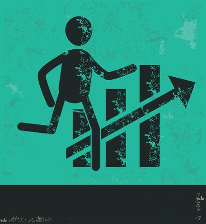 human resource: Human resource design on green background,grunge vector