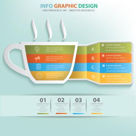 Coffee info graphic design, Business concept design. Clean vector.