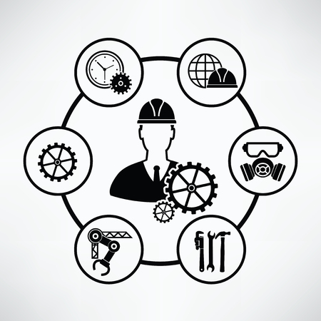 engineering concept: Engineering concept,Circle info graphic design,clean vector Illustration